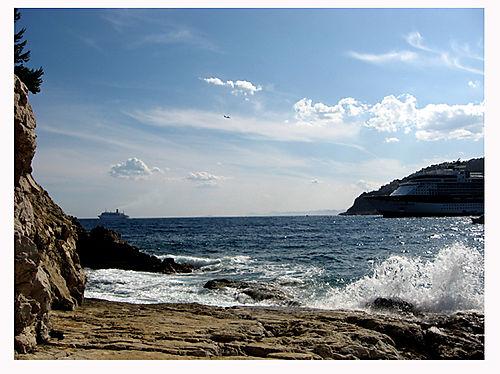 Cap Ferrat-mer agitée