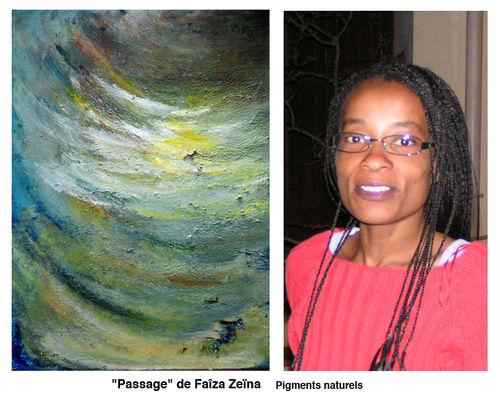 Faïza avec peinture