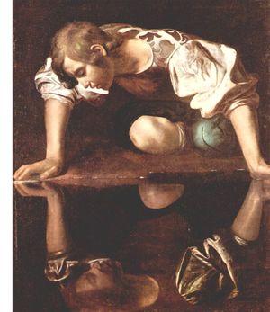 Narcisse vu par le Caravage